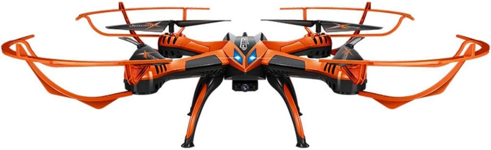 RCDNE Télécomhommede Avion HD Drone aérien Super Grande Chute-résistant à Quatre Axes modèle Avion Jouet, Suzaku Forme 360 ° Une clé Flip, 200W caméra HD
