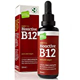 Bioactive Liquid Vitamin B12 Methylcobalamin Plus Adenosylcobalamin (50ml) 2,400 mcg (High Strength) Vegan...