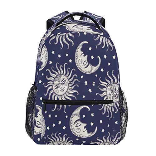 XIXIKO - Mochila de viaje con diseño de estrella tribal de la luna, mochila de viaje al aire libre, para mujeres, hombres, niñas, deportes, gimnasio, senderismo, camping, mochila