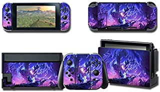 Skin Cover Decals Vinyl for Nintendo Switch, Anime Game Protector Wrap Full Set Protective Faceplate Stickers Console Joy-...