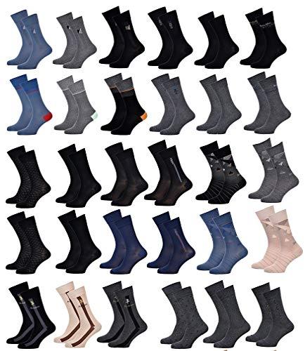 Ozabi – Herren-Socken KINDY aus Baumwolle – verschiedene Modelle nach Verfügbarkeit – mehrfarbig Gr. One size, Packung mit 10 Paar Überraschungen.