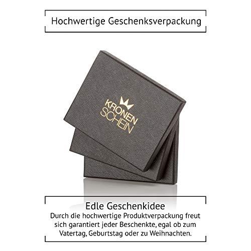 Kronenschein Premium Geldbörse mit Geldklammer und Münzfach Portemonnaie Herren schlank Männer Geldbeutel 6 Kartenfächer RFID Slim-Wallet Geldtasche