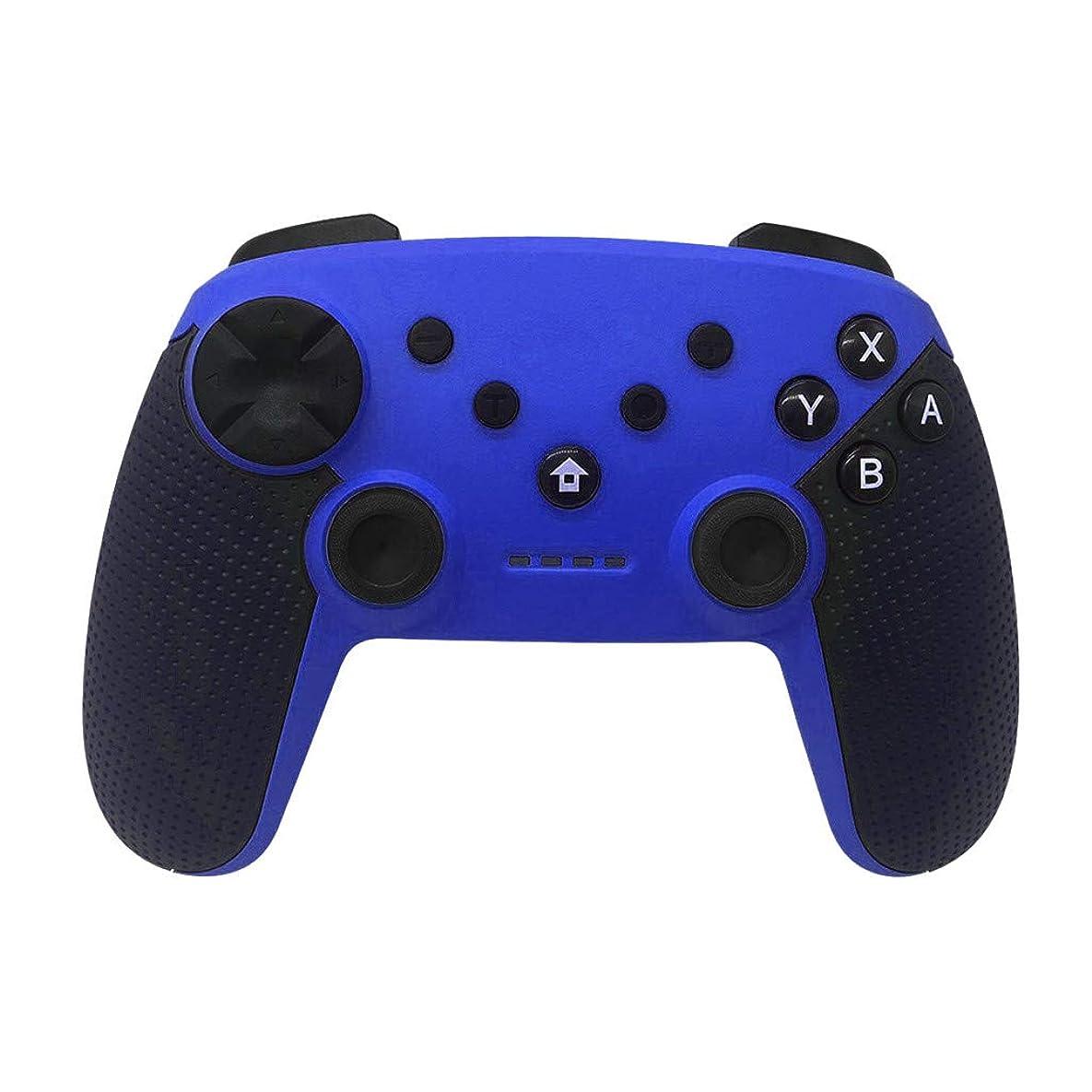絶望ささいな空白ゲーム機用アクセサリーニンテンドー魔女ワイヤレススクリーン付きスクリーン振動6軸 無線Bluetoothのコントローラーは任天堂スイッチのためのゲームパッドのジョイスティックを扱います PS3 / Androidと互換性のあるサポートPC (ブルー)