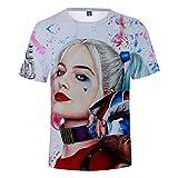 Harley Quinn T-Shirt Cosplay Maglietta con Stampa di Moda 3D Abbigliamento Sportivo Casual Top Raptor Abbigliamento Quotidiano