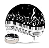 XUTAI Drink Coasters Custom Cute Cool Stone A Piano Keys with Musical Notes Coaster Ceramic with Cork Backing 4 Pack Sets for Birthday Housewarming Room Decor Holiday Party