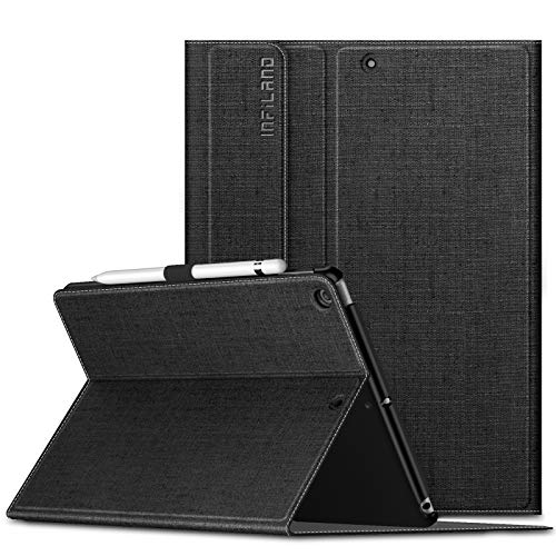 INFILAND case for iPad 7th Generation 10.2 inch 2019, Multiple Angle Stand Cover Compatible with New iPad 10.2 inch 2019 Release Tablet (Auto Wake/Sleep),Black