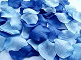 Worldoor Pack of 600pc Mixed Color Rose Petals Royal Blue & Aqua Blue Silk Rose Petals Wedding Centerpieces Party Decoration Confetti Bridal Shower Party Favor
