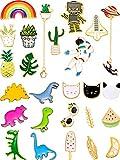 26 Pieces Cute Brooch Pins Cartoon Enamel Pins Set Cute Brooch Lapel Badges for DIY Clothing Bags Backpacks Jackets Hat