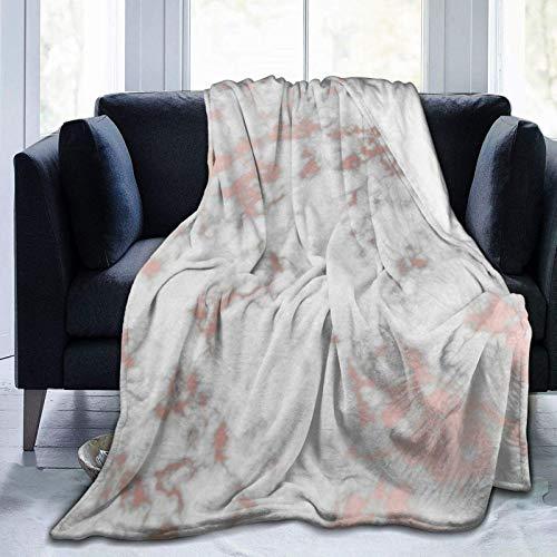 Manta de forro polar de mármol de oro rosa ultra suave para sofá o cama manta cálida para todas las estaciones del sofá