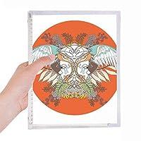 浮世絵の翼の花・木・ジャパン 硬質プラスチックルーズリーフノートノート