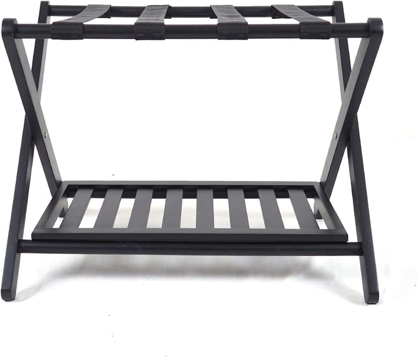 ZXFF Outlet SALE Wooden Folding Trust Luggage Rack with Holder Webbi Nylon