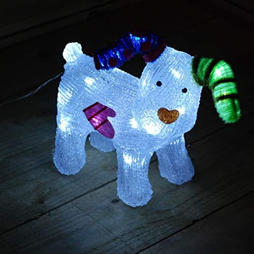 The Snowman 31cm Acrylic Snowdog Figure 24 LEDs