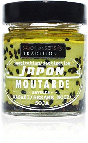 Savor et Sens Senf Japan Style mit Wasabi & Sesam, 130g.