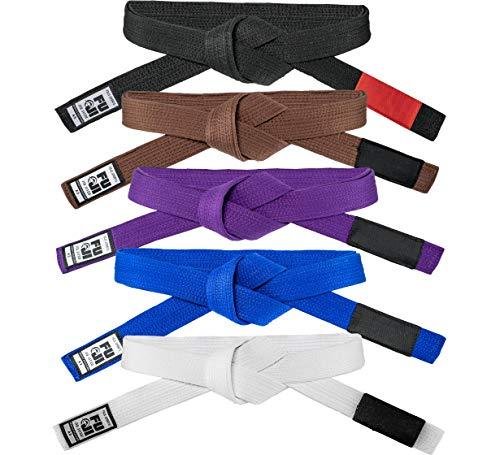 FUJI – Premium Pearl Weave BJJ Belt, Cotton-Blend Jiu-Jitsu Gi Belt, 1.5 Inches Wide, Blue