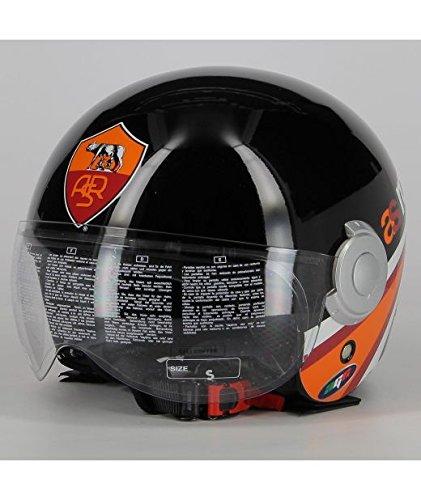 casco scooter agv AGV Casco Ufficiale As Roma Bali Copte Nero