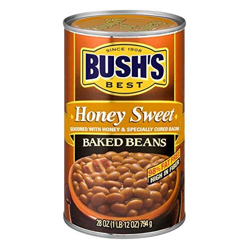 Bush's Best, Honey Baked Beans, 28oz Can (Pack of 4)