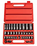 TEKTON 3/8, 1/2 Inch Drive 6-Point Impact Socket Set, 38-Piece (3/8-1-1/4 in, 8-32 mm) | 4888