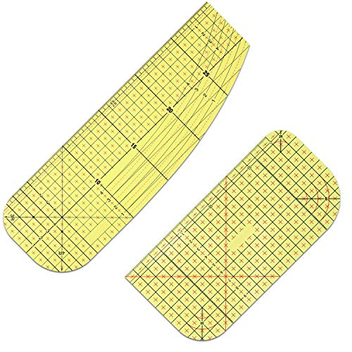 2 Pieces Hot Ruler Hot Hemmer Ruler Iron Ruler Sewing Tools Heat Resistant Ruler for Electric Iron Home lroning Work, 2 Different Styles
