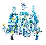 Intervic Set Bloques Ladrillos de Construccion de Juguete Tematica Castillos Palacios de Caricaturas con Personajes de Peliculas Niños Niñas 463+Piezas