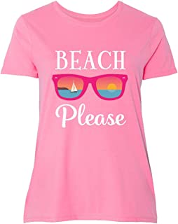 inktastic Beach Please Sunglasses Gift Women's Plus Size T-Shirt
