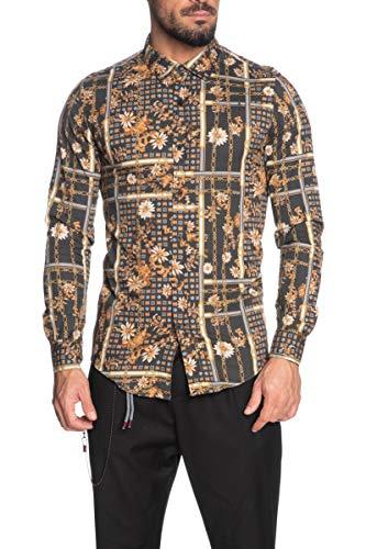Imperial Camicia a Manica Lunga Uomo Fantasia Marrone