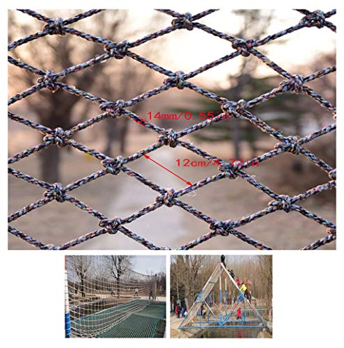 Style-Climbing net Kinderkletternetze Ausbildung Seil Ausbau Netze Frachtnetze Treppen Balkon Spielplatz Schule Zaun Garten Hängebrücke Schutznetz BAU Sicherheitsnetz (Size : 1x6m)