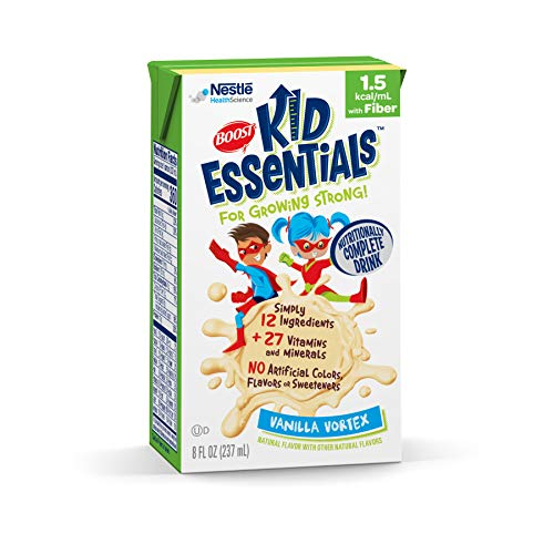Boost Kid Essentials 1.5 Nutritionally Complete Drink with Fiber, Vanilla, 8 Ounces (Pack of 27)