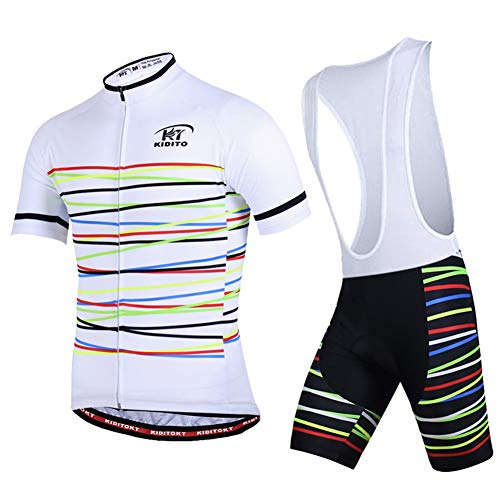 HUIGE Heren Fietsen Jersey Set Fiets Korte MTB Kleding Pad Fietsen Bib Shorts Pak Ademende Mountainbike Riding Equipment Stretch Buiten