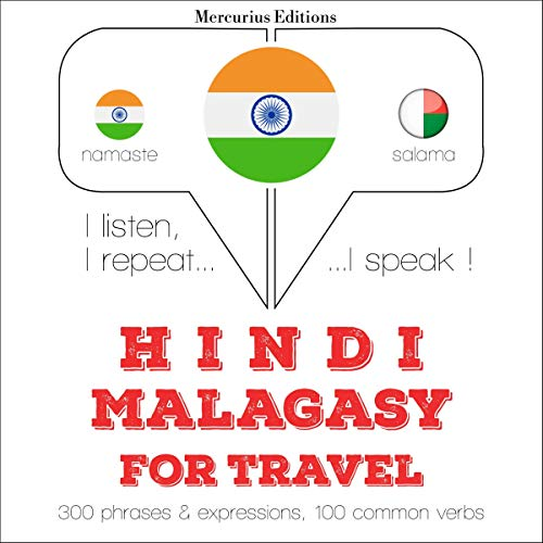 Hindi - Malagasy. For travel audiobook cover art