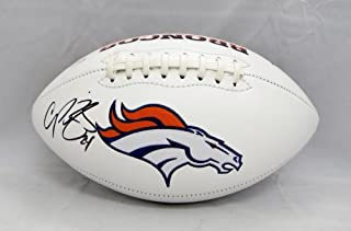 Champ Bailey Denver Broncos Signed Autograph Embroidered Logo Football JSA Witnessed Certified