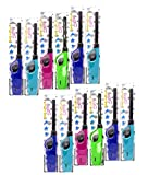 Elite Brands USA Long Lighters Bulk Pack, Multi Use Butane Refillable Fire Lighters, Ideal for Fireplace Candle BBQ Grill Gas Stove Campfire, Neon Colors, 12 Pack