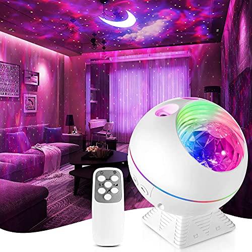 furein Proyector de estrella, luces de noche estrella, proyector LED Baiyun de luz de luna con control remoto, rotación de 360°, 10 modos de...