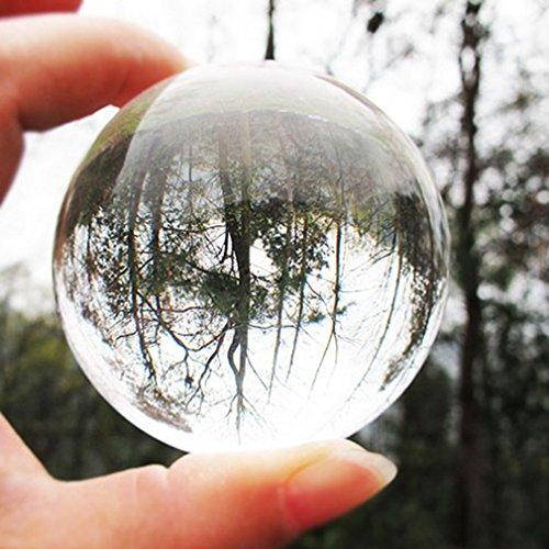MathRose - Sfera in vetro per fotografia, K9, sfera di cristallo trasparente, decorazione per la fotografia di un amico (80 mm)