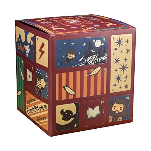 Paladone Cube Harry Potter Calendrier de l'Avent avec 24 Cadeaux | Comprend des Baguettes et des Personnages emblématiques