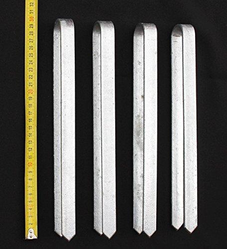 DanDiBo 4 Stück Bodenanker verzinkt XL Erdanker für Rosenbogen 30 cm Heringe Erdspieß Bodenspieß Befestigung Verankerungs-Set