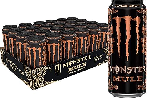 Monster Mule Energy Drink Ginger Brew 24x500ml (Confezione da 24 Lattine)