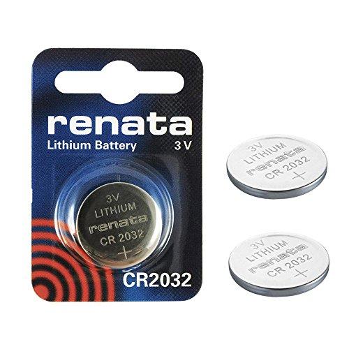 2 x Genuine Renata Swiss made CR2032 3 V 225 mAh batterie al litio a bottone batteria in moneta