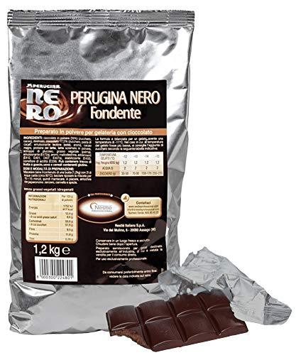kg 1,2 PREPARATO al Gusto Cioccolato Nero Fondente PERUGINA per Gelati E SEMIFREDDI Dark Chocolate Ice Cream
