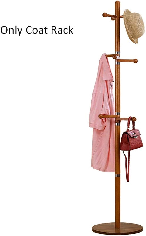 Bedroom Landing Rubber Solid Wood Coat Rack Hanger Creative New Hanging redatable Hook Hanger (color   Brown)