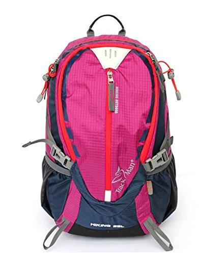 sac à dos randonnée sac extérieur hommes et femmes randonnée alpinisme sac à bandoulière d'équitation imperméable à l'eau légère Sacs à dos de randonnée ( Couleur : Rose red , taille : 20-35L )