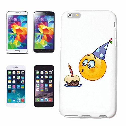 Reifen-Markt Handyhülle kompatibel für iPhone 7 Smiley ALS Geburtstagskind MIT Kuchen UND Kerze Smileys Smilies Android iPhone Emoticons IOS GRINSEGESICHT Emoticon
