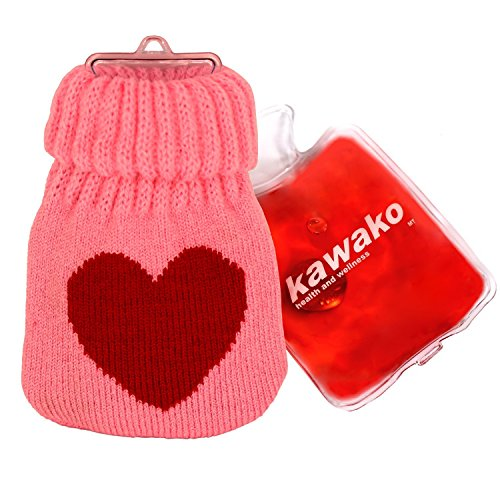 kawako Taschenwärmer/Handwärmer - Wärmflasche mit Strickbezug WF7511, Farbe:Love Heart