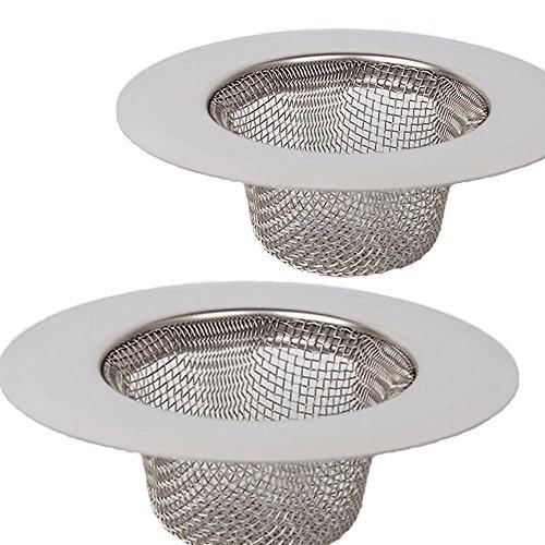 Filtro in acciaio inox 2 pezzi, filtro mini lavello, filtro lavello in acciaio inox, vasca da bagno o lavello da cucina