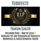 V.I.P EINLADUNG Kartenset XL (24 Stück) Premium Einladungskarten zum Ausfüllen - edel in Schwarz & Gold ideal für VIP Party, Silvester, Einweihung, Kinder-Geburtstag für Jungen, Mädchen & Erwachsene - 2