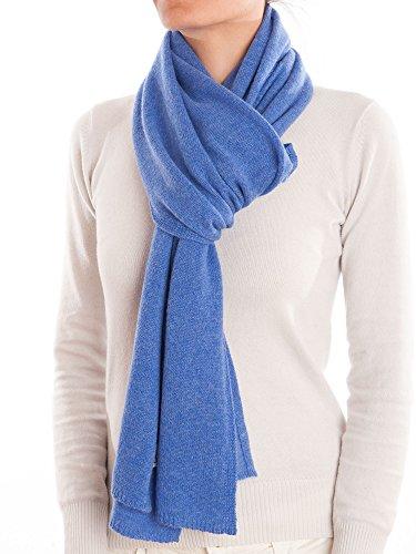 DALLE PIANE CASHMERE - Schal aus 100% Kaschmir - für Mann/Frau, Farbe: Hellblau, Einheitsgröße