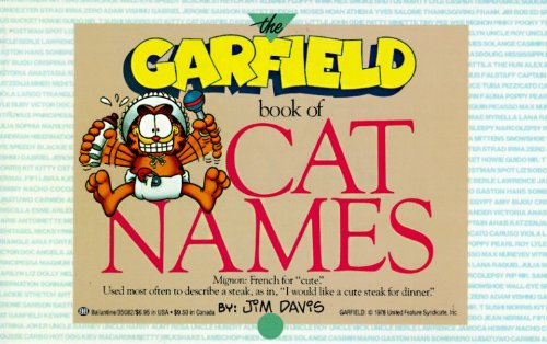 The Garfield Book of Cat Names by Jim Davis (25-Aug-1988) Paperback