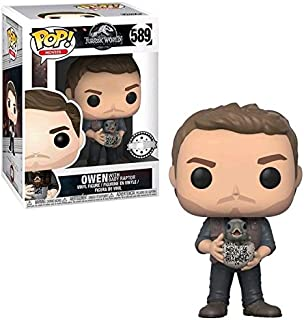 Desconocido Pop Funko Movies #589 Jurassic World Owen with Baby Raptor (Target Exclusive) Exclusivo 30990
