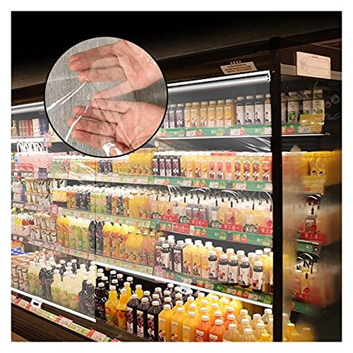 RZEMIN Persiana Enrollable PET Transparente, Fácil De Tirar Hacia Abajo Y Hacia Arriba, Cortina Interior Y Exterior por Oficina Supermercado Cocina Congelador (Color : Claro, Size : 110cmx170cm)