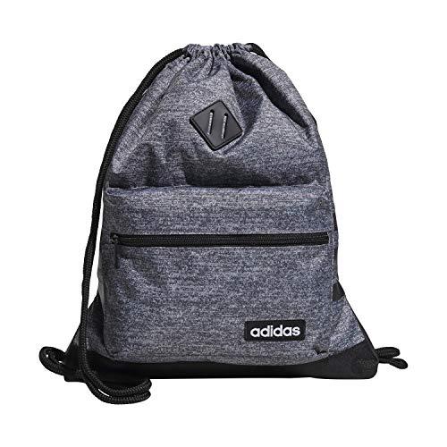 adidas Bolso unisex clásico 3s Sackpack, Unisex, Bolsa, 976595, Onix Jersey/Negro, Talla única