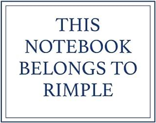 This Notebook Belongs to Rimple